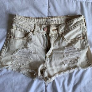 Cream PacSun High Rise Shorts